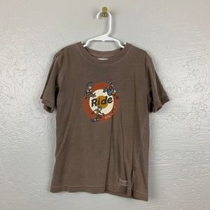 Life is Good Size S Brown Shirt Skater